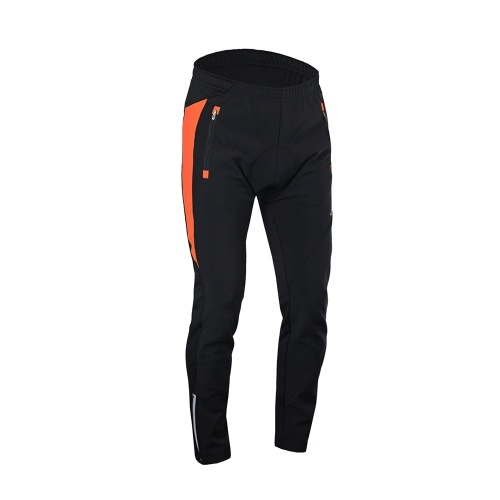 Lixada Men's Outdoor Cycling Pants Winter Thermal Breathable Comfortable Trousers with Padded Cushion Riding Sportswear