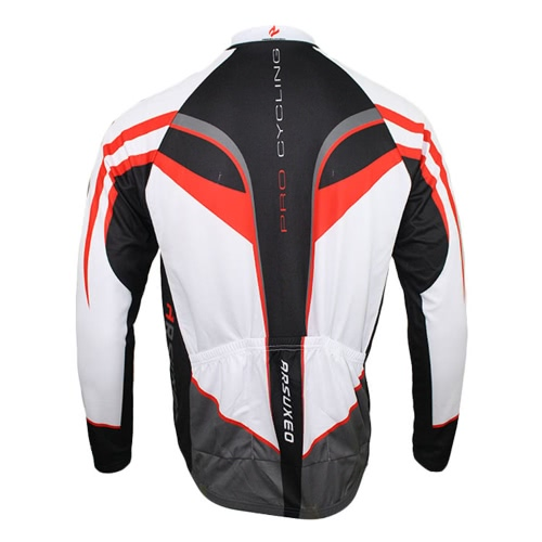 ARSUXEO Men's Outdoor Breathable Comfortable Long Sleeve Jacket Padded Pants Cycling Clothing Set Riding Sportswear