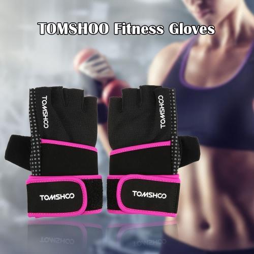 TOMSHOO Unisex Gewichtheber-Handschuhe Fitness-Handschuhe mit Handgelenk-Verpackungs-Anti-Rutsch-Griff-Design Breathable bequeme