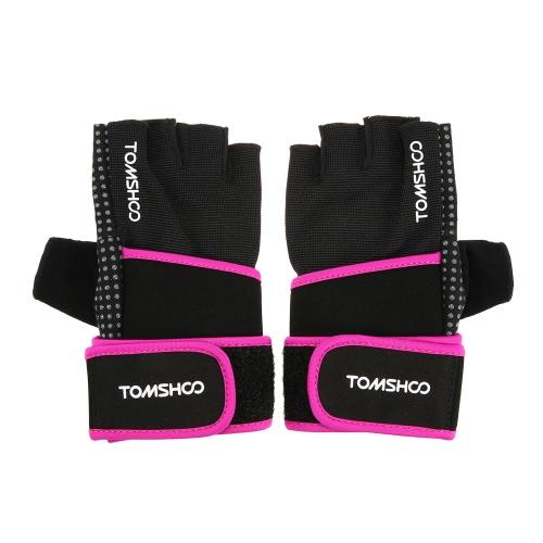 TOMSHOO Unisex Атлетический Перчатки Fitness перчатки с запястья Wrap Anti-скользят дизайн дышащий Удобная
