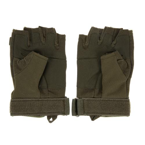 Hard Knuckle Тактические перчатки Половина Finger спортивной стрельбы Охота верхом мотоциклов