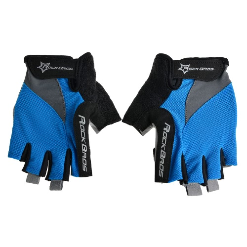Guanti ROCKBROS unisex respirabile guanti mezzi Finger guida su strada in bicicletta da corsa Equitazione Motociclismo sci escursionismo Outdoor