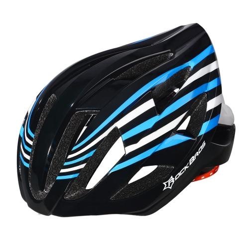 ROCKBROS Аккумуляторные 18 Интегрированный потока Vents дорожный велосипед MTB Защитные Внутриматричная шлем с Tail Light 3 режима 6 цветов