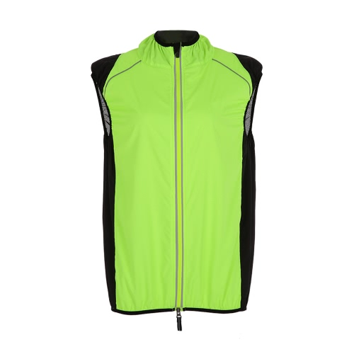 ROCKBROS Men Sleeveless Cycling Vest Breathable Bicicletta Giacca Jersey Cappotto Cycle Bicicletta Abbigliamento Sportivo Top