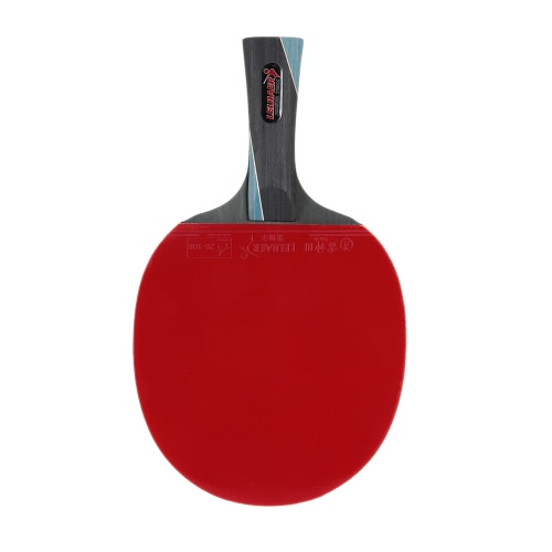 Tabla profesional raqueta de tenis del ping-pong de la paleta del palo de la raqueta de tenis de mesa de la lámina con lleva la caja de mango largo / corto de la manija