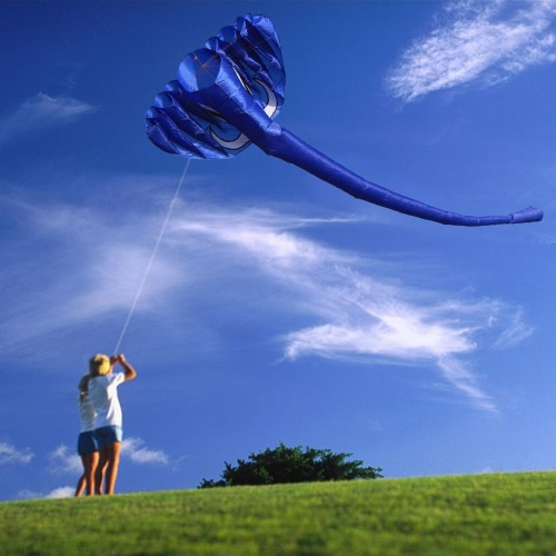380 * 200cm gigante elefante 3D cometa suave sin marco Kite línea única de Kite Niños Adultos