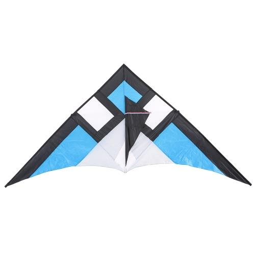 Stunt Kite bambini adulti Delta-forma 290 * 135 centimetri di larghezza, Linea Triangolo Fly Kite Flyer per Beach divertente vacanza in famiglia