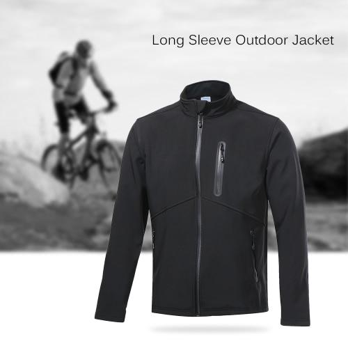 Arsuxeo Herren Outdoor-Mantel-Jacke Thermal Fleece Full Zip-Mantelsport Outwear für Herbst-Winter-Radfahren Laufen Jogging