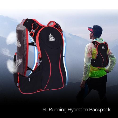 AONIJIE 5L deporte al aire libre Correr chaleco de las mujeres del morral / chaleco de los hombres mochila de hidratación de 1,5 l bolsa de agua Bolsa de Ciclismo