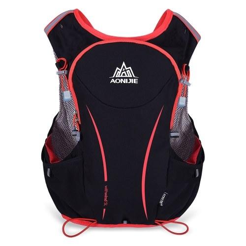 AONIJIE 5л Открытый Спорт Бег жилет Рюкзак женщин / мужчин жилет пакет гидратации для 1.5L воды мешок Велоспорт Туризм сумка