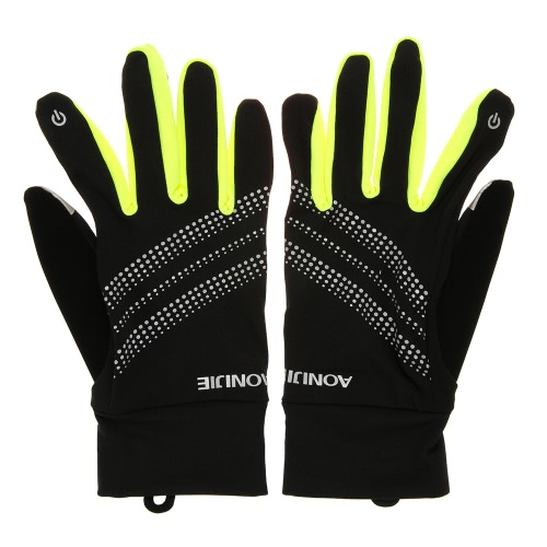 AONIJIE Outdoor Sport Uomo Donna guanti caldi antivento in bicicletta da corsa Escursionismo Moto Finger completa Touch Screen Gloves