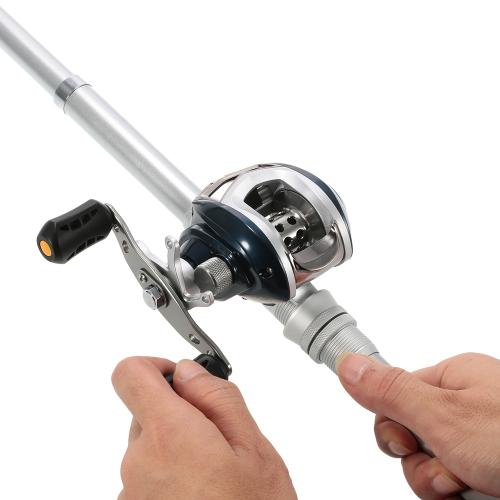 6 + 1 rodamientos de bolas 6.3: 1 mano izquierda / derecha baitcasting carrete de pesca de fundición pesca Baitcast carrete con control de freno magnético