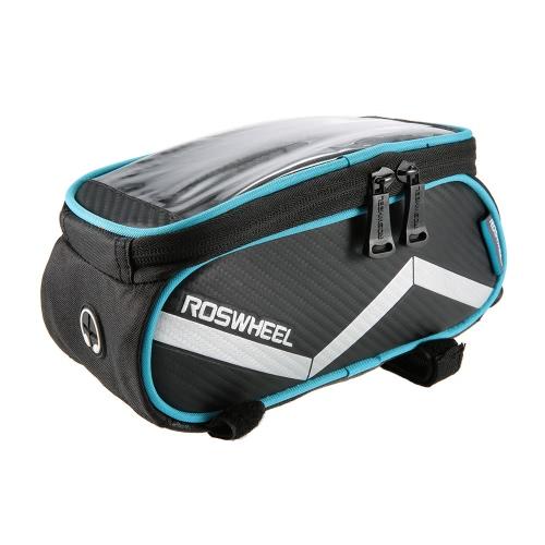 ROSWHEEL 6,2-дюймовый сенсорный экран сумка велосипед Передняя рамка Паньер Велоспорт верхняя труба сумка держатель мобильного телефона сумка MTB Mountain Road велосипедов Repair Tool сумка