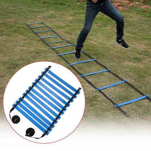 TOMSHOO 11 Ступень Плоский Регулируемая скорость ловкости Лестница Спорт Скорость Тренировки Упражнения Лестница с Free дорожная сумка