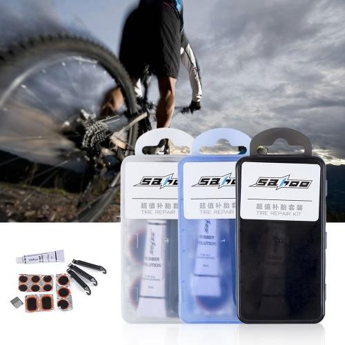 Sahoo Mini portátil de bicicletas Tire Repair Tool Kit Set de ciclo de la bici kit de mantenimiento de los neumáticos Patch palanca de pegamento con la caja