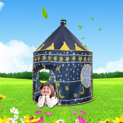 Docooler Prinz Prinzessin Castle Kids Play Tent Indoor Outdoor Kinder Faltbare Spielhaus mit Tragetasche