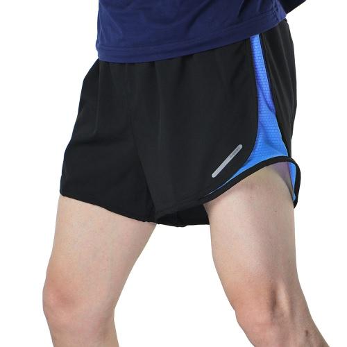 Uomo 2 in 1 Arsuxeo Pantaloncini da corsa Quick Dry Marathon Training Fitness Corsa Ciclismo Sport Shorts Bagno