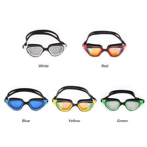 Image of Erwachsene Männer Frauen polarisierte Anti-Fog-UV-Schutz Mirrored Beschichtung Bademode Schwimmbrille Sportschwimmbrille Brillen Brillen mit Aufbewahrungskoffer