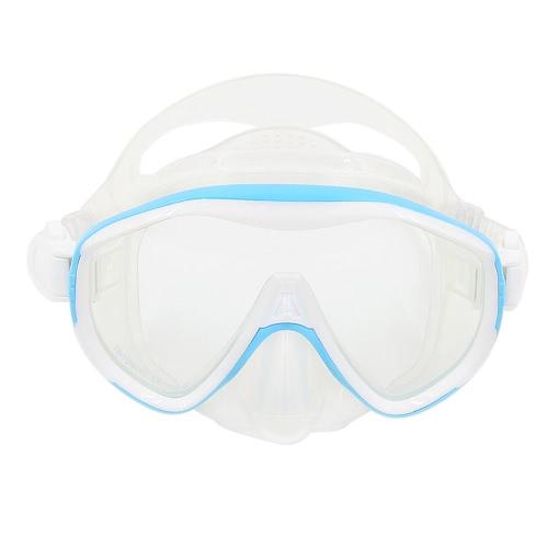 Di alta qualità anti-fog mascherina di immersione subacquea Snorkeling Uomo Donna Maschera singola finestra Maschera subacquea occhialini da nuoto nuoto Maschera Lente in vetro temprato facciale in silicone flessibile PC telaio adulti
