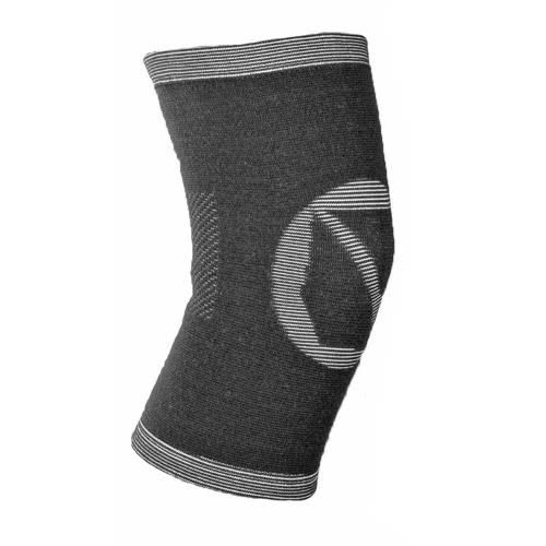 1pcs Leichte atmungsaktive Bambuscarbon-Faser Sport-Knie-Auflage-Schutz-elastische Knie Unterstützung Wärmer Fußball Mountaineering Winter-Compression Knee Protect Sleeve Brace