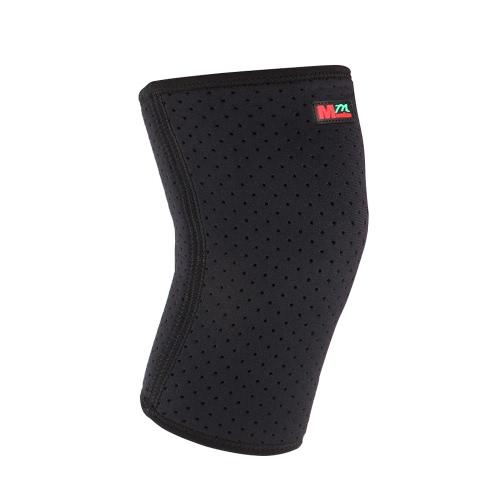 Rodilla 1pcs respirables ligeros de neopreno Deportes protector del cojín del apoyo de rodilla de ciclo más cálido alpinismo invernal rodilla Proteja manga Brace