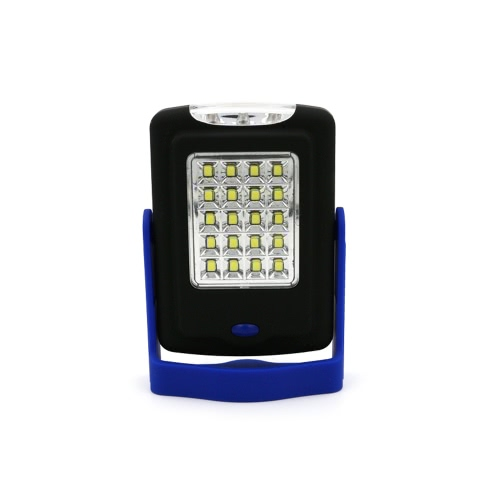 2-en-1 Ultra versátil super brillante luz LED 20 + 3 colgante ligera de trabajo portátil gancho magnético Base de la lámpara al aire libre Linterna camping