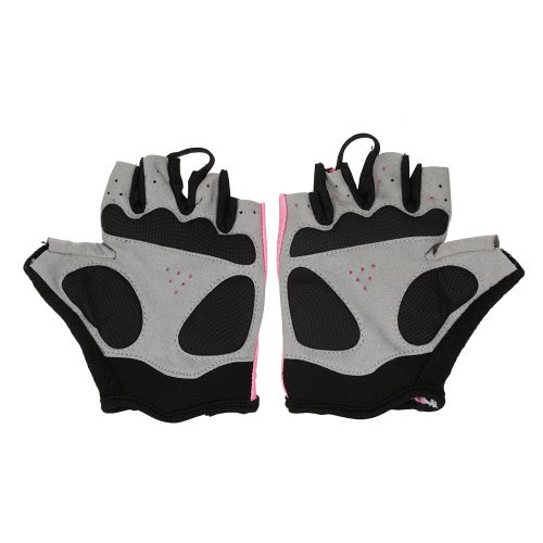 QEPAE Biking Gloves Gel Pad Fingerless Half Finger Gloves for Safe Night Riding Cycling Hiking Image