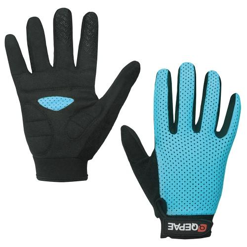 Перчатки из перчаток QEPAE Спортивная воздухопроницаемая езда Велоспорт Перчатки Амортизирующие Износоустойчивые