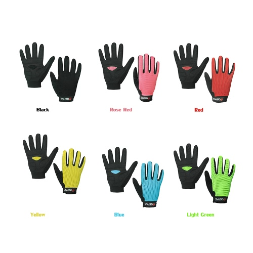 QEPAE Full Finger Gloves Sports Breathable Riding Cycling Gloves Shock Absorbent Wear-resistant Image