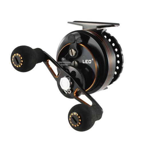 Super Smooth Sensitive 6 + 1 Kugellager 3,6: 1 Übersetzungsverhältnis Raft Angelrolle Fliegenrolle Rad Rechts / Links-Hand-Eis-Fischen Reel Sternradbremse Angeltaue mit Aufbewahrungstasche