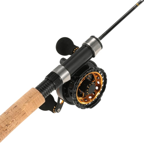 ?Super Smooth Sensitive 6+1 Ball Bearing 3.6:1 Gear Ratio Raft Fishing Reel Fly Reel Wheel Right/Left Hand Ice Fishing Reel Star Drag Fishing Tackles with Storage Pouch thumbnail
