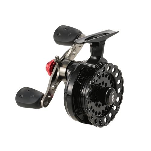 4 + 1 cuscinetto a sfere 2.6: 1 Gear Ratio Arnesi Destra / Sinistra mano Raft Mulinello mosca bobina rotella del ghiaccio Mulinello stella di pesca di resistenza con Storage Pouch