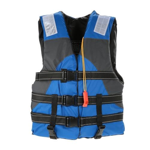 Lixada Outdoor Adult Lifesaving Life Jacket Flotazione Dispositivo di lavoro Vest Abbigliamento Nuoto Giubbotti di vita marine Sicurezza sopravvivenza Suit Buoyancy Aid per sport acquatici Nuoto Drifting Pesca