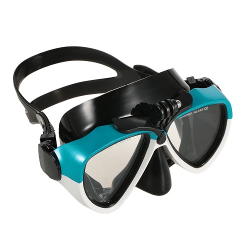 Buceo Profesional de silicona Boquilla del tubo respirador seco de dos templado ventana Máscara de cristal Conjunto para el buceo Natación de pesca submarina
