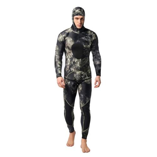 Pantaloni da bagno con cappuccio con cappuccio maschile in tuta da bagno a doppio neoprene da 3 mm neoprene
