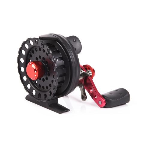 4 + 1BB 2.6: 1 64MM Fliegen-Fischen-Bandspule-Rad-Fischen-Rollen Links- / Rechts-Hand-Raft-Fischen-Behälter-Rad-rechte Handfisch-Rad-Fischen-Werkzeug