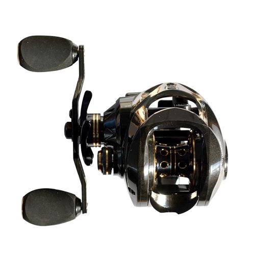 17 + 1 rodamientos de bolas Baitcasting de carbono carrete de pesca 7.0: 1 carretes de lanzamiento de cebo de la mano izquierda / derecha carrete de pesca con una sola manera embrague Baitcasting carrete