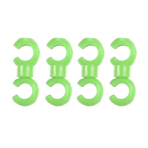 4PCS ruota girevole MTB linea frizione C / S fibbia freni freni frizione Derailleur Shift Cable Line tubo tubo dispositivo di memorizzazione anello dispositivo di bloccaggio