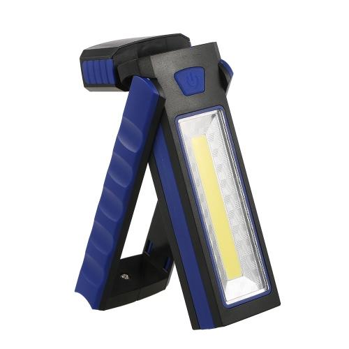 Portable Pocket LED Taschenlampe Magnetische Arbeitsleuchte 180 Grad Stand Hanging Fackel Lampe
