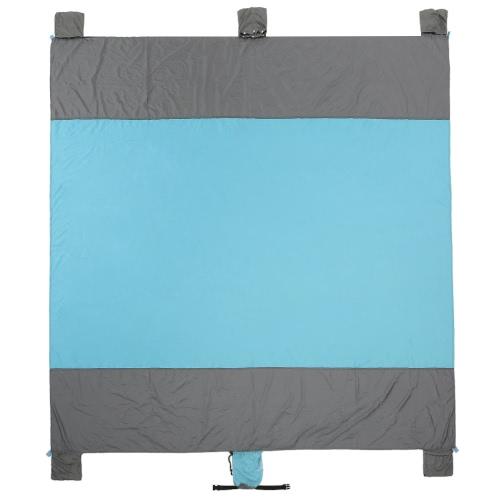 7.9 '* 7.5' Портативный наряд для пляжа на открытом воздухе Легкий компактный песочный пикник для одевания для пикников Пикники Игры Фестивали