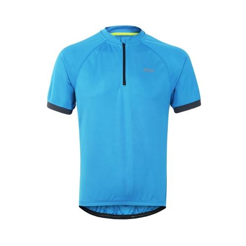 Arsuxeo Uomo Maglietta da corsa Maglia sportiva traspirante rapida da secco Maglia manica corta da uomo a maniche corte ciclismo Jersey