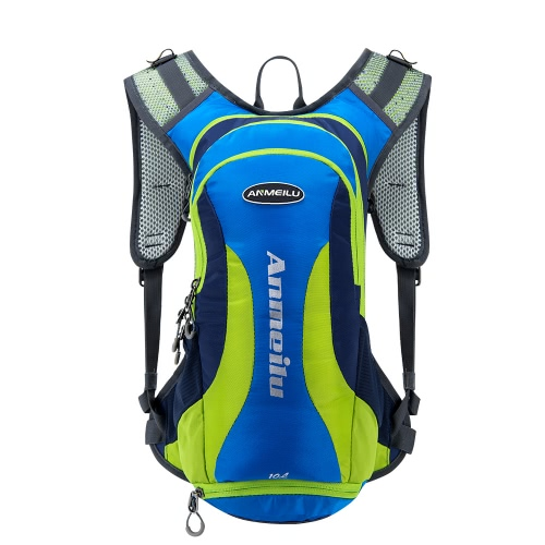 Resistente al agua 10L Hydration Bladder Pack Ciclismo Running Walking Mochila de excursión ligero Daypack