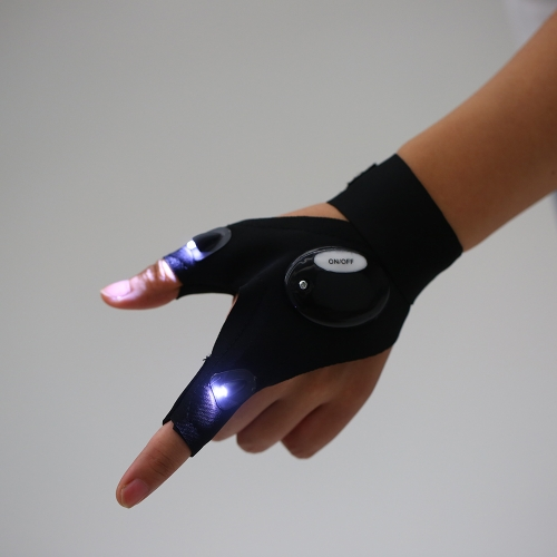LED-Licht fingerlose Beleuchtung Handschuh