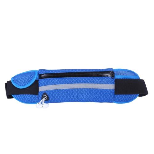 Новый открытый спортивный одиночный плечо Anti Theft Slim Бегущий сотовый телефон сумка талии Многофункциональная проницаемость Поясные карманы