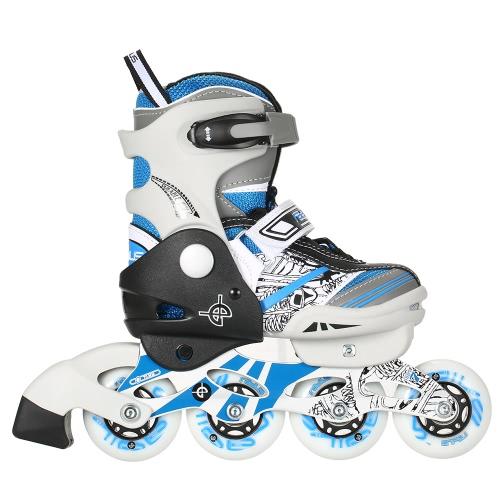 Monopatín ajustable de los patines en línea para las muchachas de los niños