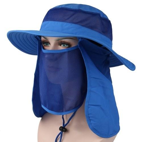 Sombrero de pesca para acampar al aire libre 360 ° con protección solar