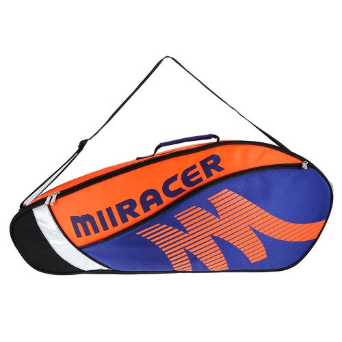 Bolso de raqueta de bádminton Bolso de raqueta de tenis Soporte de bolsa de almacenamiento de raqueta para 3 raquetas