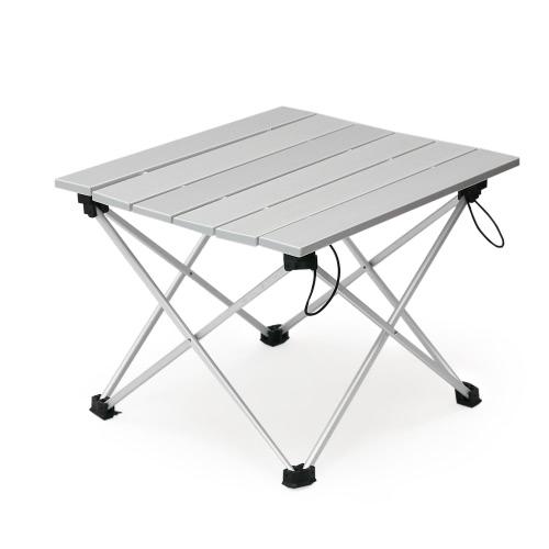 Алюминиевый складной складной столик для кемпинга с сумкой для переноски на открытом воздухе для пикника