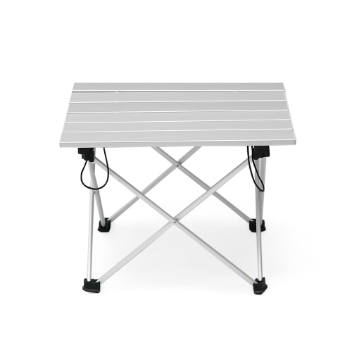 Aluminum Folding Collapsible Camping Table with Carrying Bag for Outdoor Indoor Picnic Beach Hiking Travel Fishing Activities