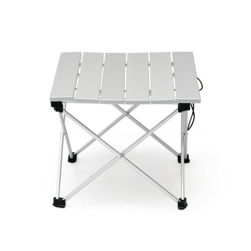 Aluminio plegable cama de camping plegable con bolsa para llevar al aire libre al aire libre picnic playa de senderismo Actividade